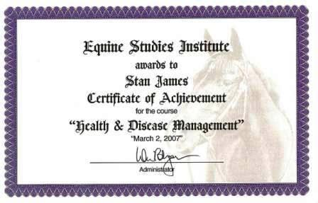 Professional Stable Manager Certification - Equine Studies Institute